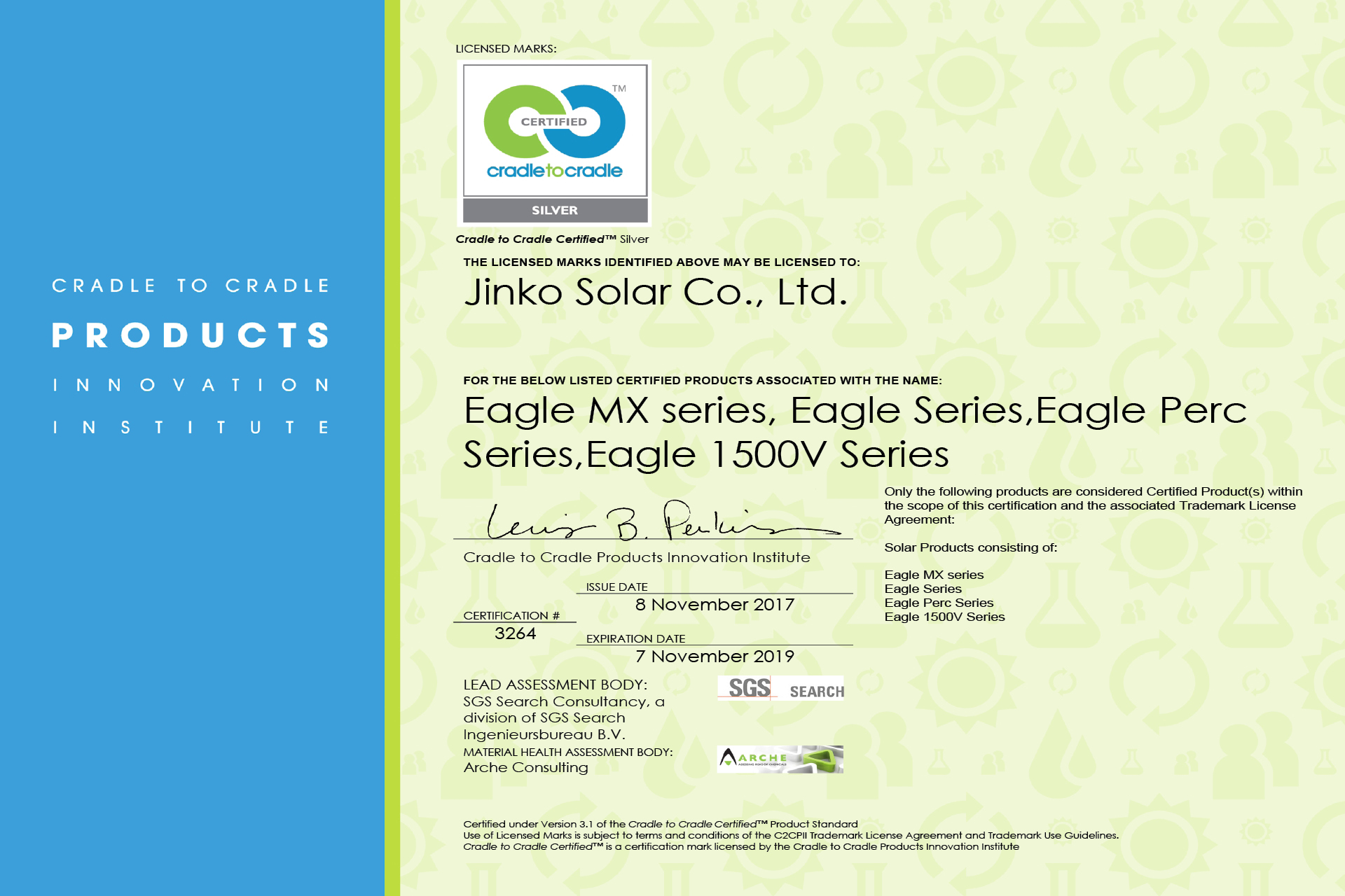 SGS Awards JinkoSolar with First C2C Certificate in China - Building